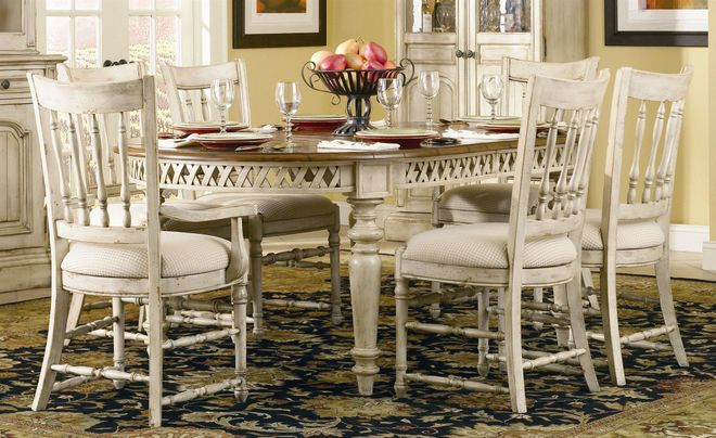 Country french dining room furniture sets rustic design for Rustic country dining sets