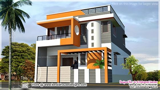 Modern house design in tamilnadu style kerala home for Tamilnadu home design photos