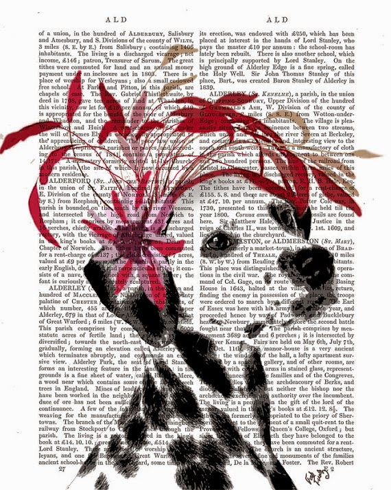 Dalmatian Vintage Hat illustration by Kelly Stevens on Etsy