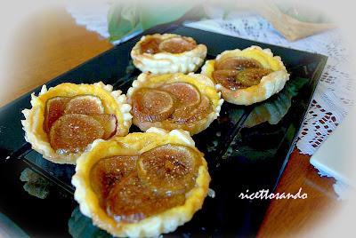 Tartellette di fichi con crema pasticcera allo zenzero