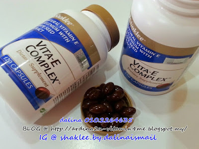 Rupa bentuk vitamin E shaklee