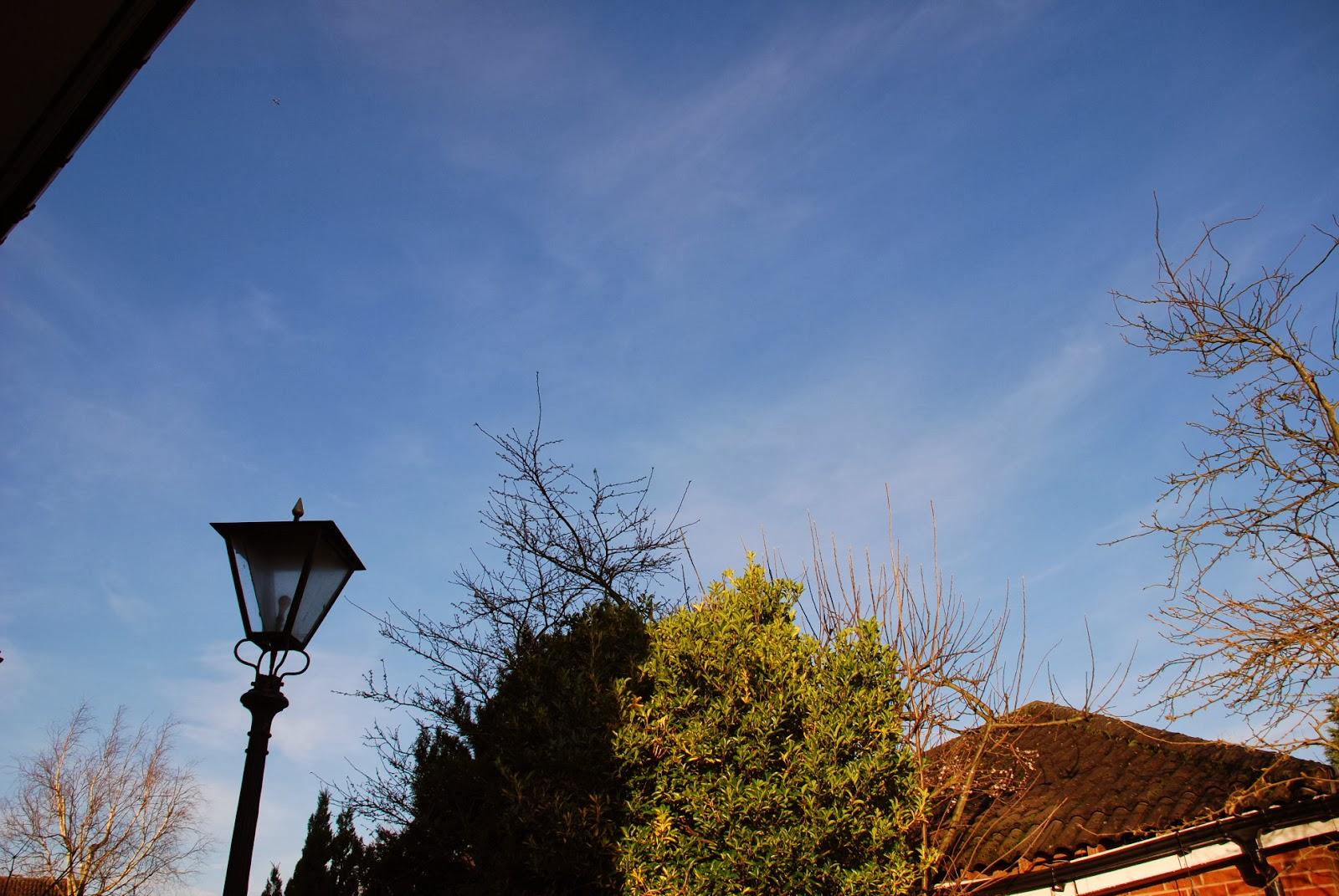 image of sunny blue winter sky