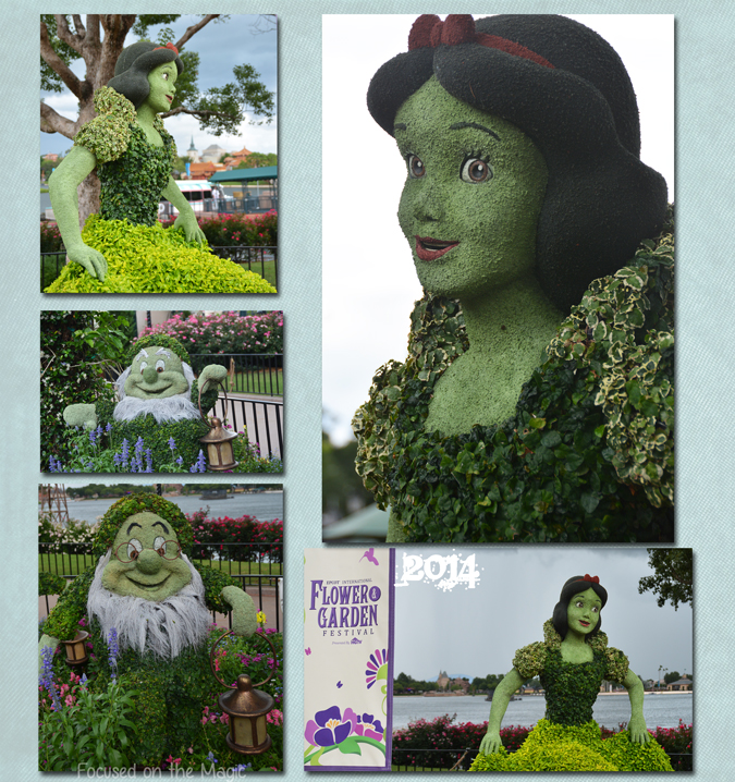 Snow White topiary at The Epcot Flower and Garden Festival.