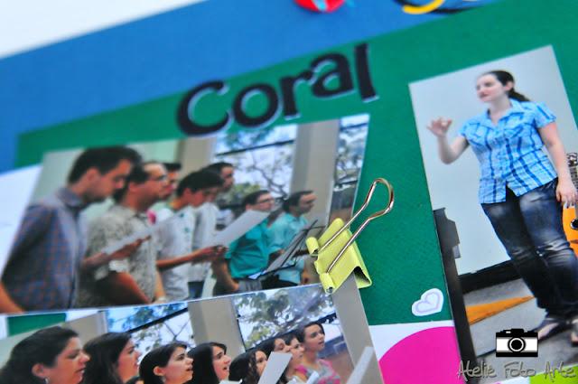 Scrapbook coral jovem