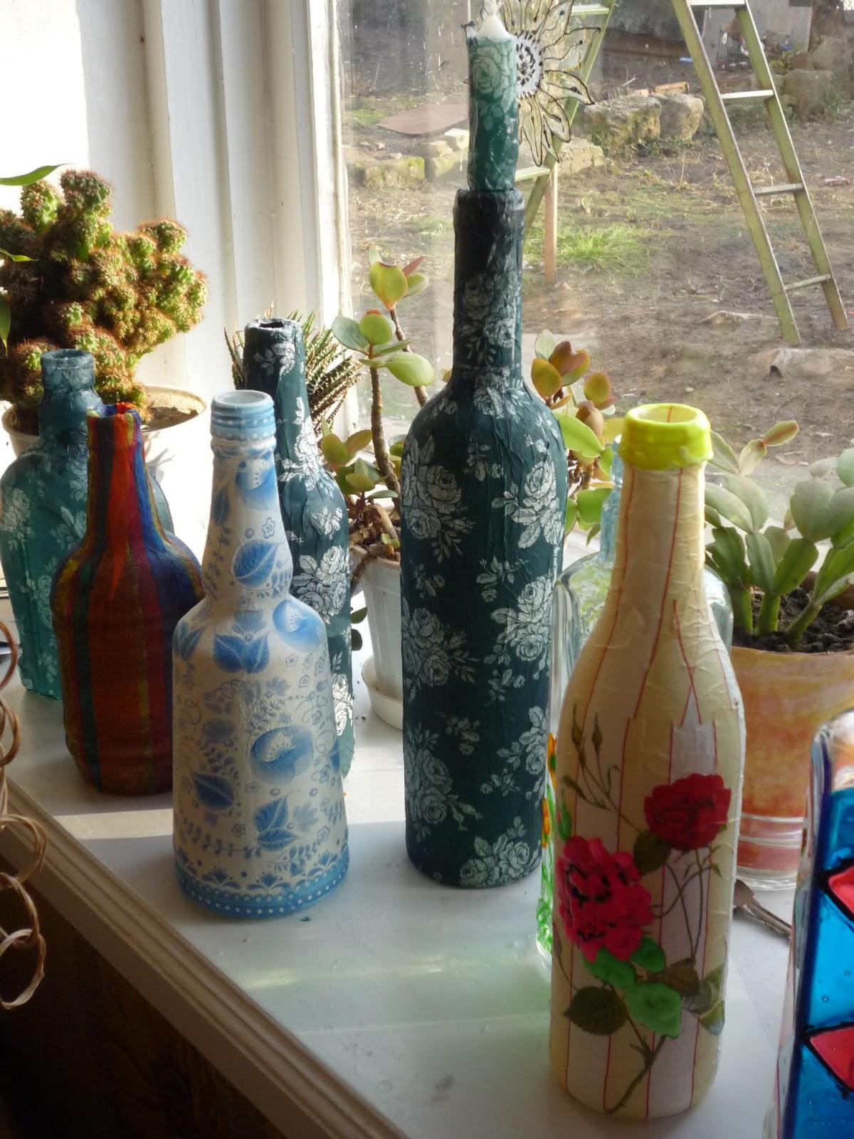 Декор бутылочек своими руками 38
