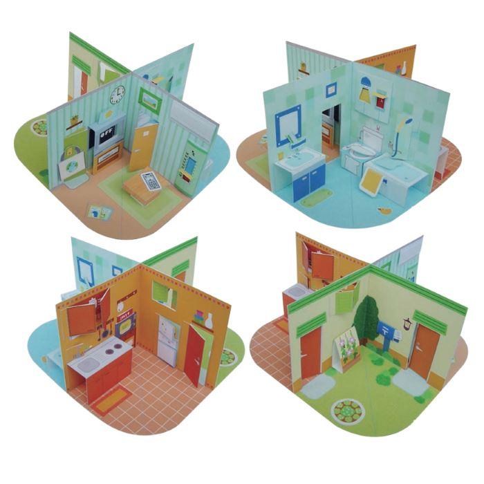 Как сделать из бумаги кукольный домик из бумаги