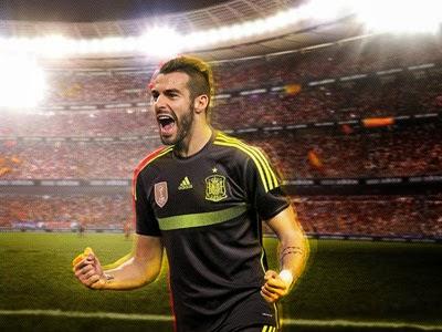 segunda camiseta España Mundial 2014 Brasil