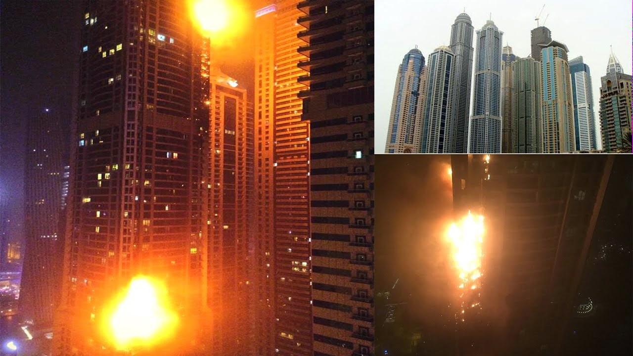 Video Marina Torch Dubai Terbakar 21 Feb 2015