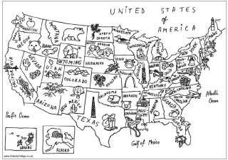 Usa Map Coloring PagesMapPrintable Coloring Pages Free Download