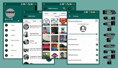 BBM Mod Themes Minimalist Green Versi 2.10.0.31 Apk