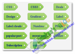 Label clouds blue with css 3