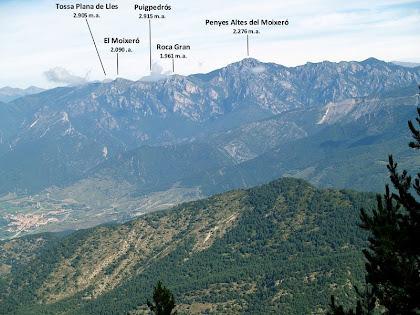 La Serra del Moixeró des de la pista a Sant Romà de la Clusa