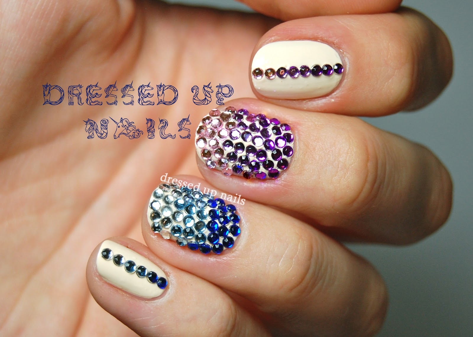 Nail Designs With Rhinestones | Nail Art Mystery