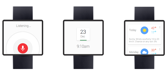 Google Nexus smartwatch mock-up