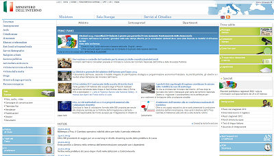 Home page Ministero dell'Interno