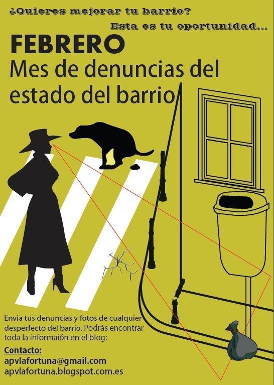 FEBRERO: Mes de denuncias del estado del barrio