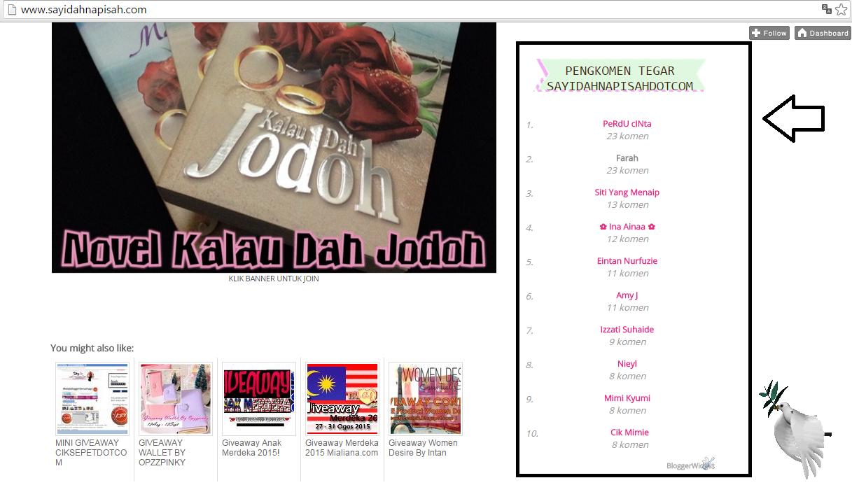 Bloglist Special Untuk Top 10 Komentator Oktober!