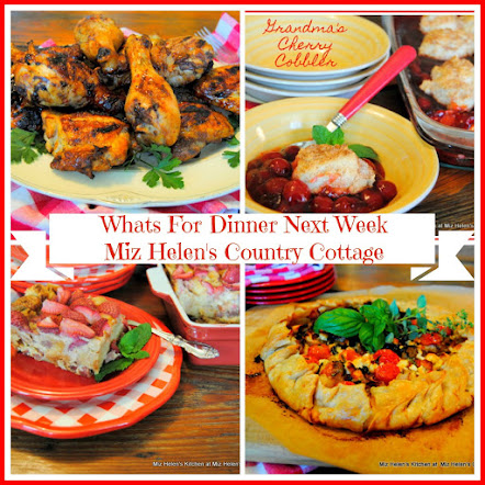 Whats For Dinner Next Week * Week Of 7-16-17