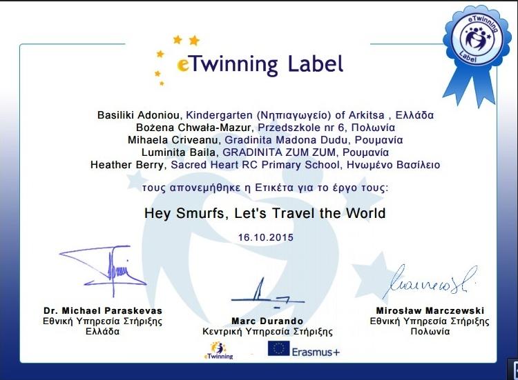 e twinning Label