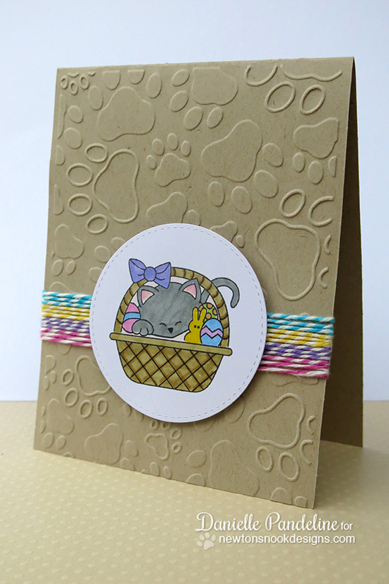 Easter Basket card by Danielle Pandeline for Newton's Nook Designs