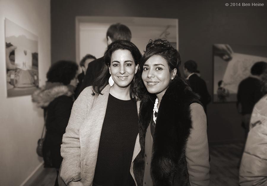 Stephanie Manasseh et Najwa Borro - Exposition de Ben Heine à la DCA Gallery - Belgique - 2014