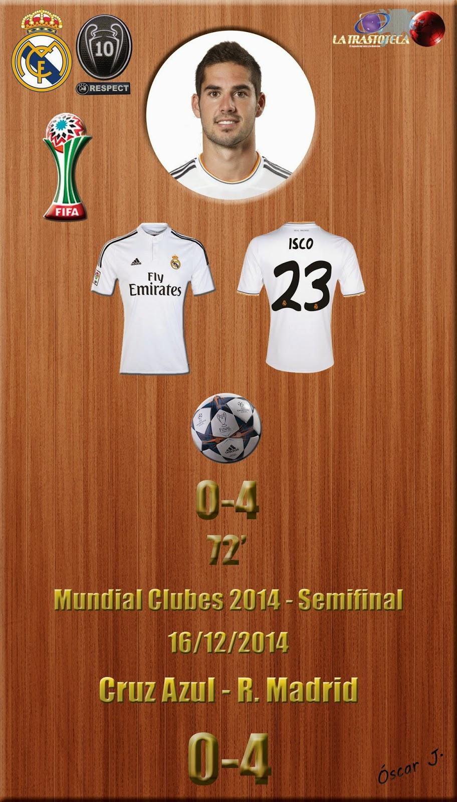 Isco (0-4) - Cruz Azul 0-4 Real Madrid - Mundial de Clubes de la FIFA MARRUECOS 2014 - Semifinales (16/12/2014)