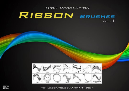 45 Awesome Swirl And Ribbon Photoshop Brushes