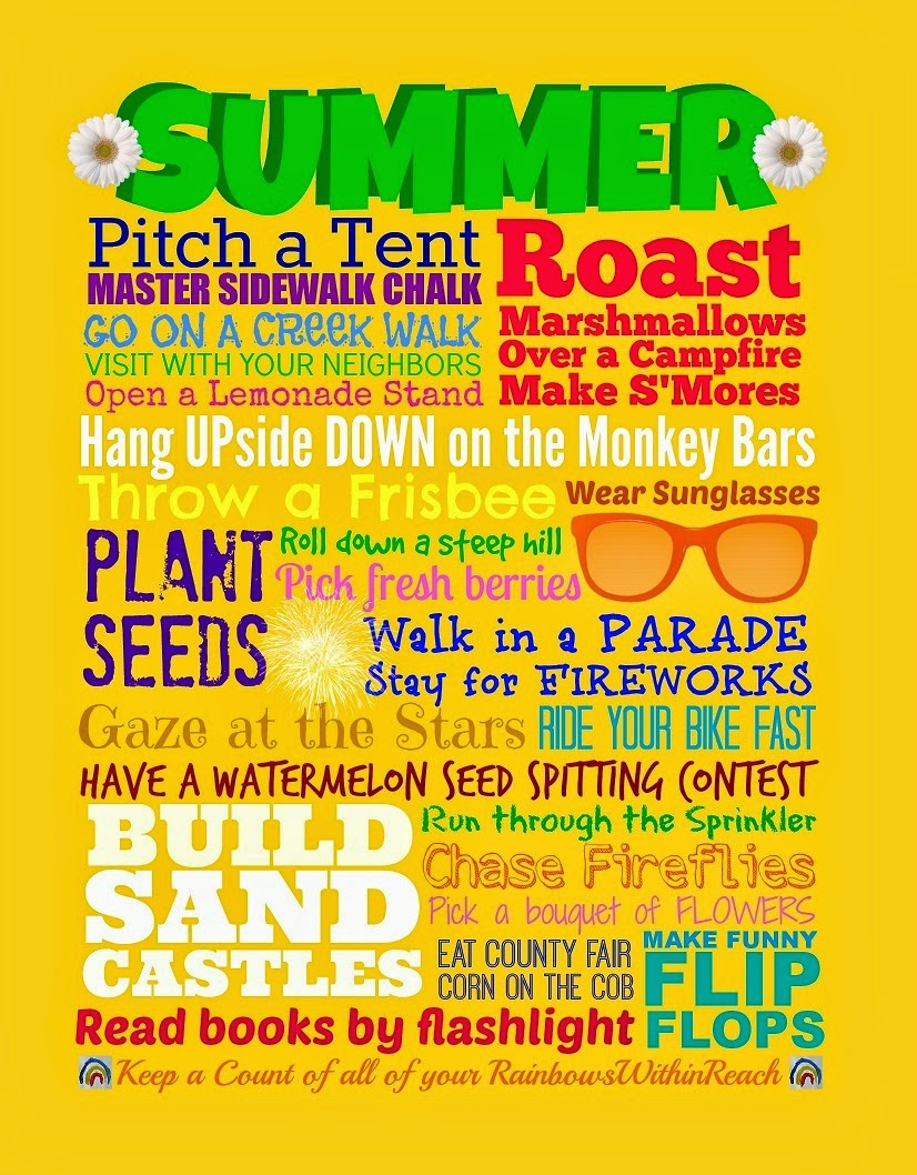 FREEBIE Summer Subway Bucket List Printable from Debbie Clement at RainbowsWithinReach