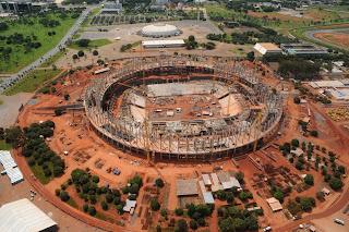 Estádio da obra do Estádio Nacional de Brasília