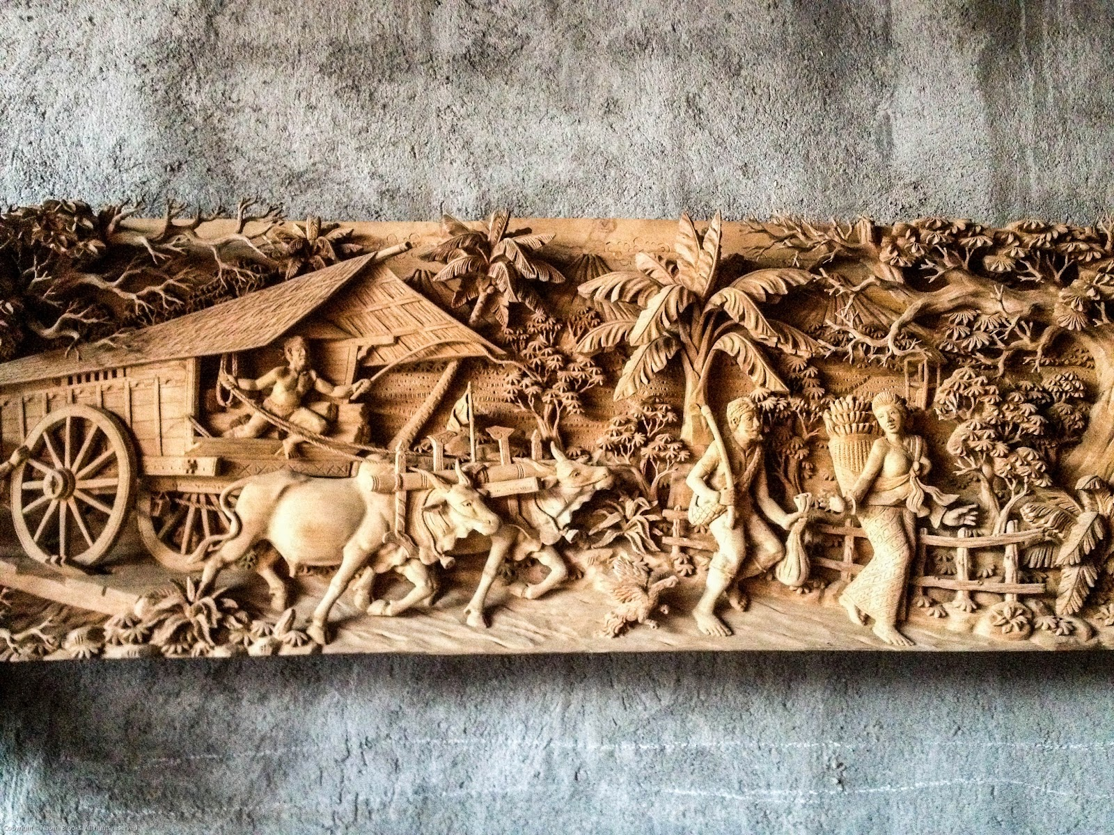 Resin wood carving last supper d picture for home decoration