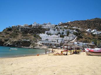 Vistas de la playa de Ios - Islas Griegas