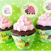 Sweet Ladybugs: Free Printable Toppers and Wrappers Cupcakes.