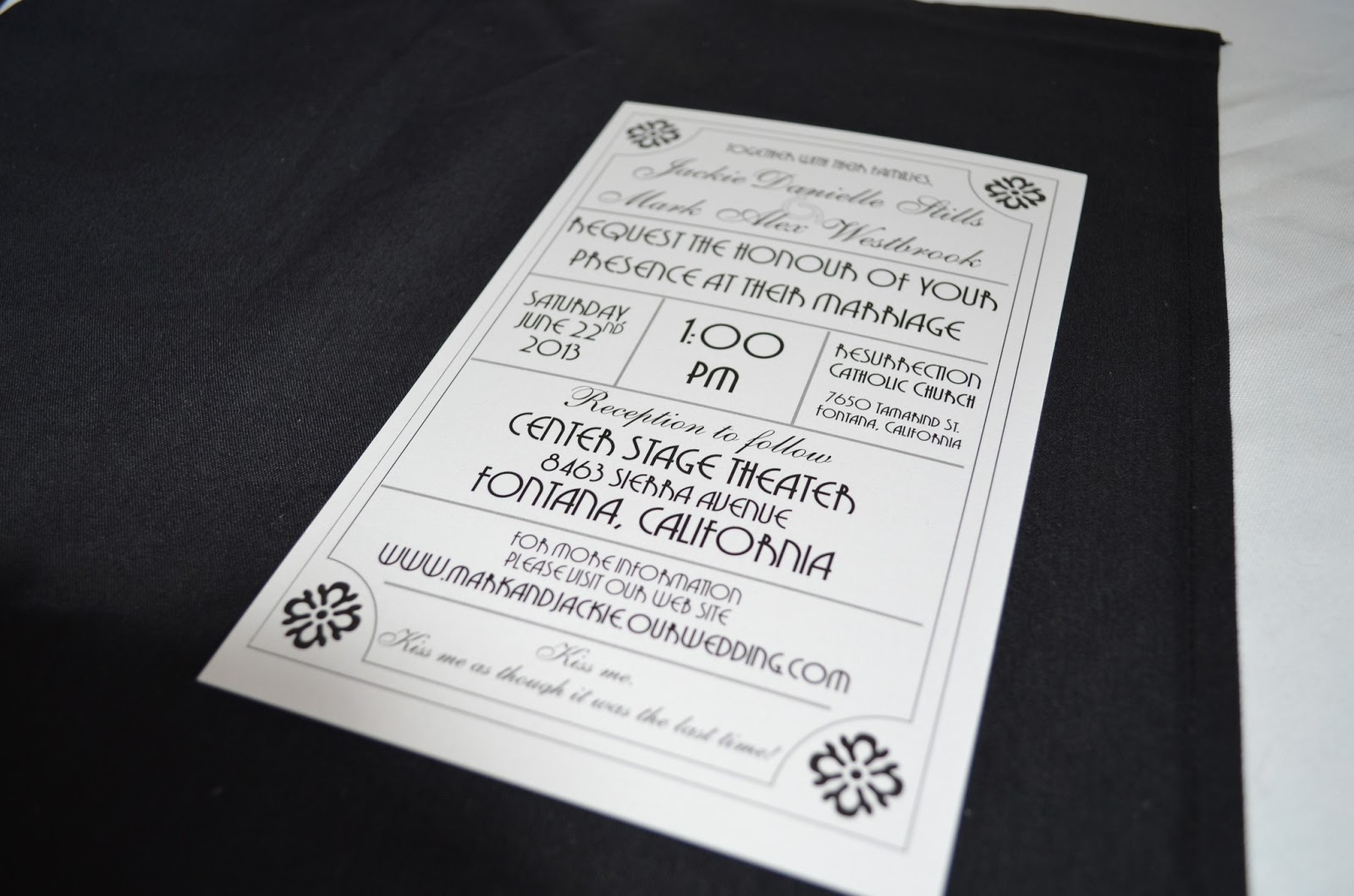 Outstanding Wedding Invitation Movie Theme Sketch - The Wedding ...