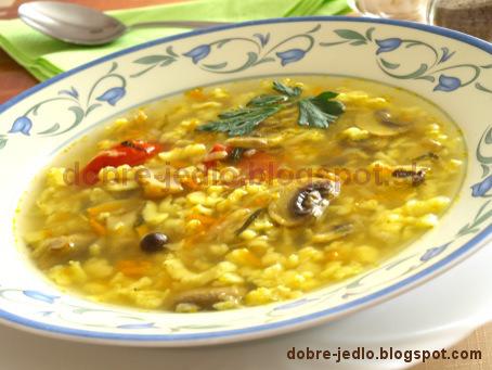 Jemná hubová polievka - recepty