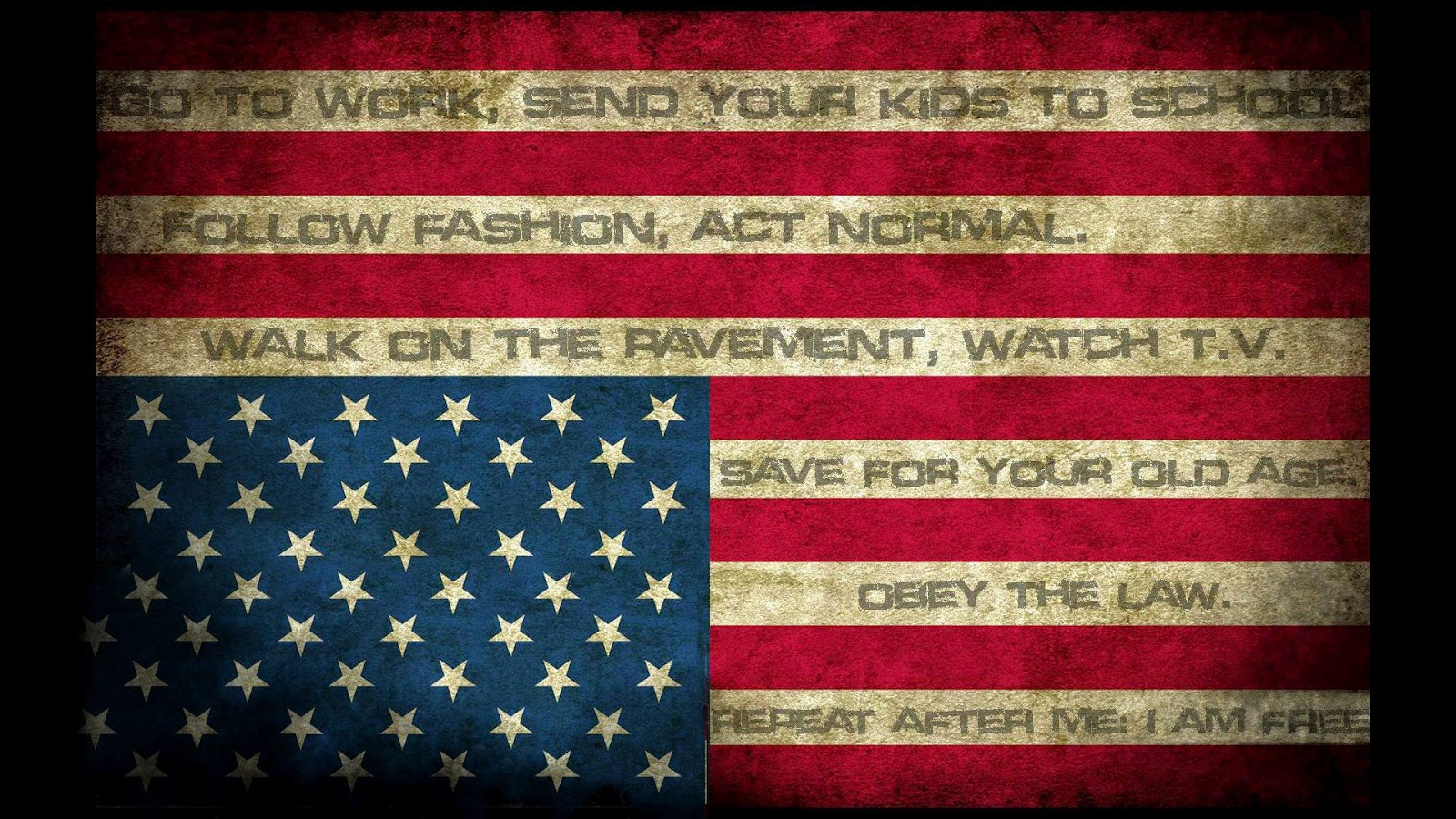 Abstract American Flag HD Wallpaper