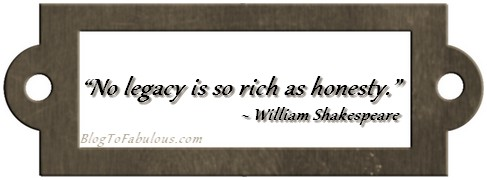 no legacy is so rich as honesty essay