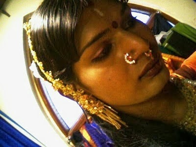 crossdressed model nose rings