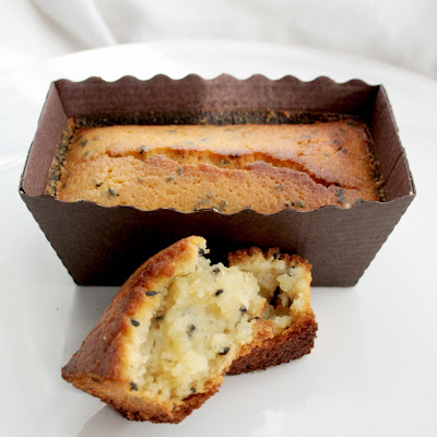 A twist on the classic lemon and poppyseed cake - lemon, lime and black sesame seed mini loaves
