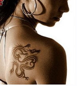 dragon tattoo for girl