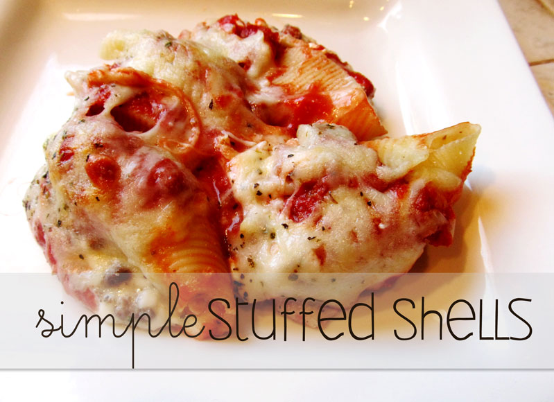 Lovely Little Snippets: Simple Stuffed Shells