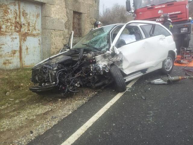 coche siniestrado en el accidente