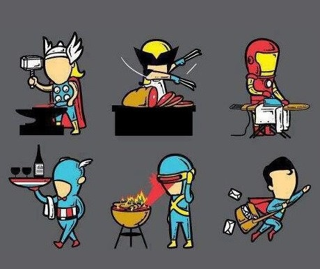 superheroes' summer jobs