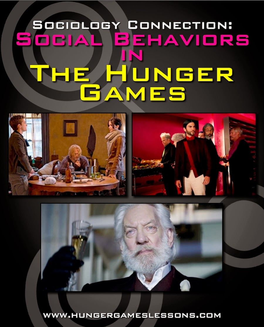 Social behaviors in The Hunger Games trilogy on www.hungergameslessons.com