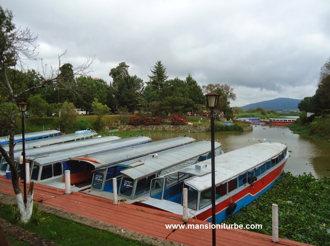 Muelle San Pedrito in Patzcuaro where you can take a boat to Jantizio