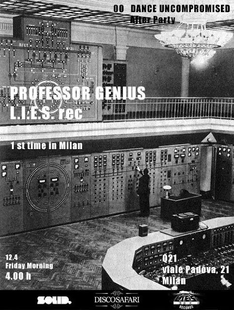 discosafari - PROFESSOR GENIUS - Live Show - 1st Time In Milan - L.I.E.S. REC