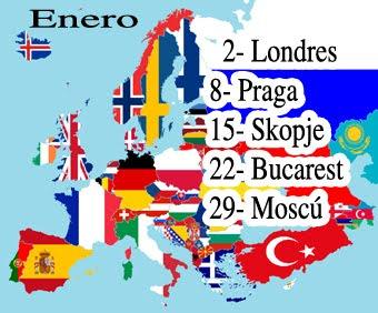 Europa, enero capitales de estados...