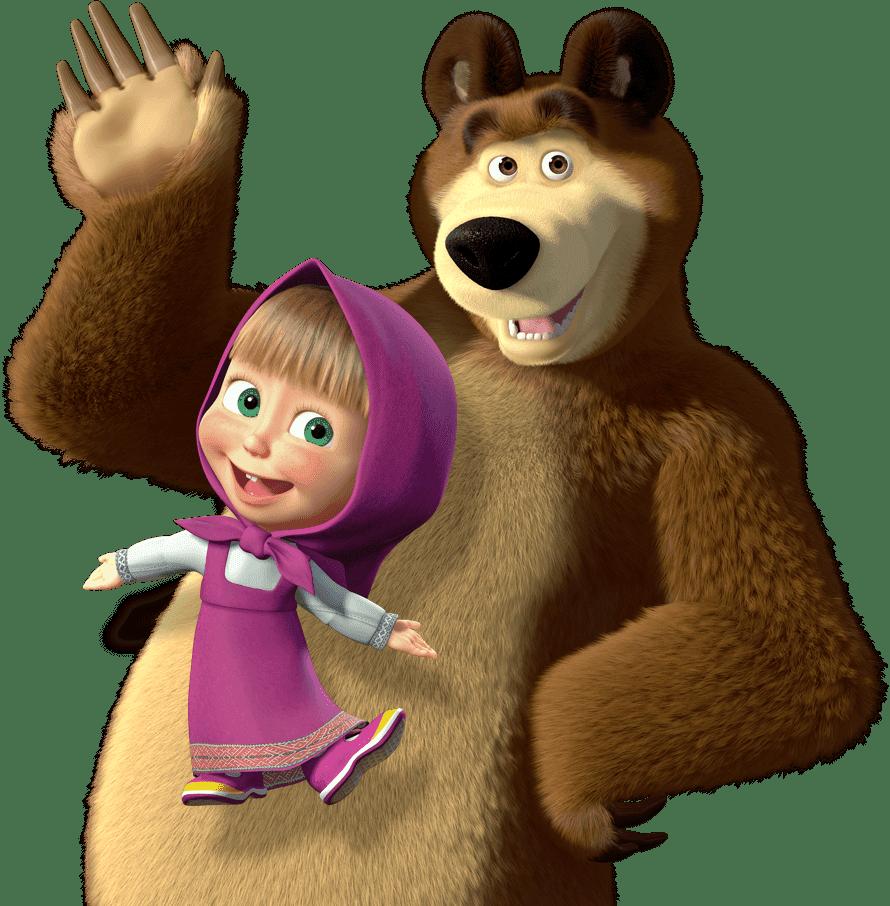 маша и медведь до: