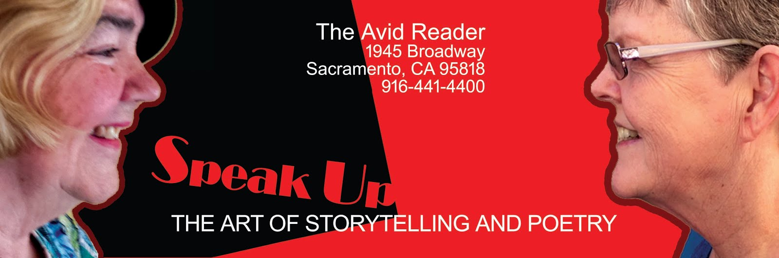 SPEAK UP STORYTELLING & POETRY in Sac. Fri. (4/27)