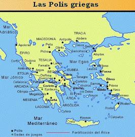 Ubicación Espacial de los griegos