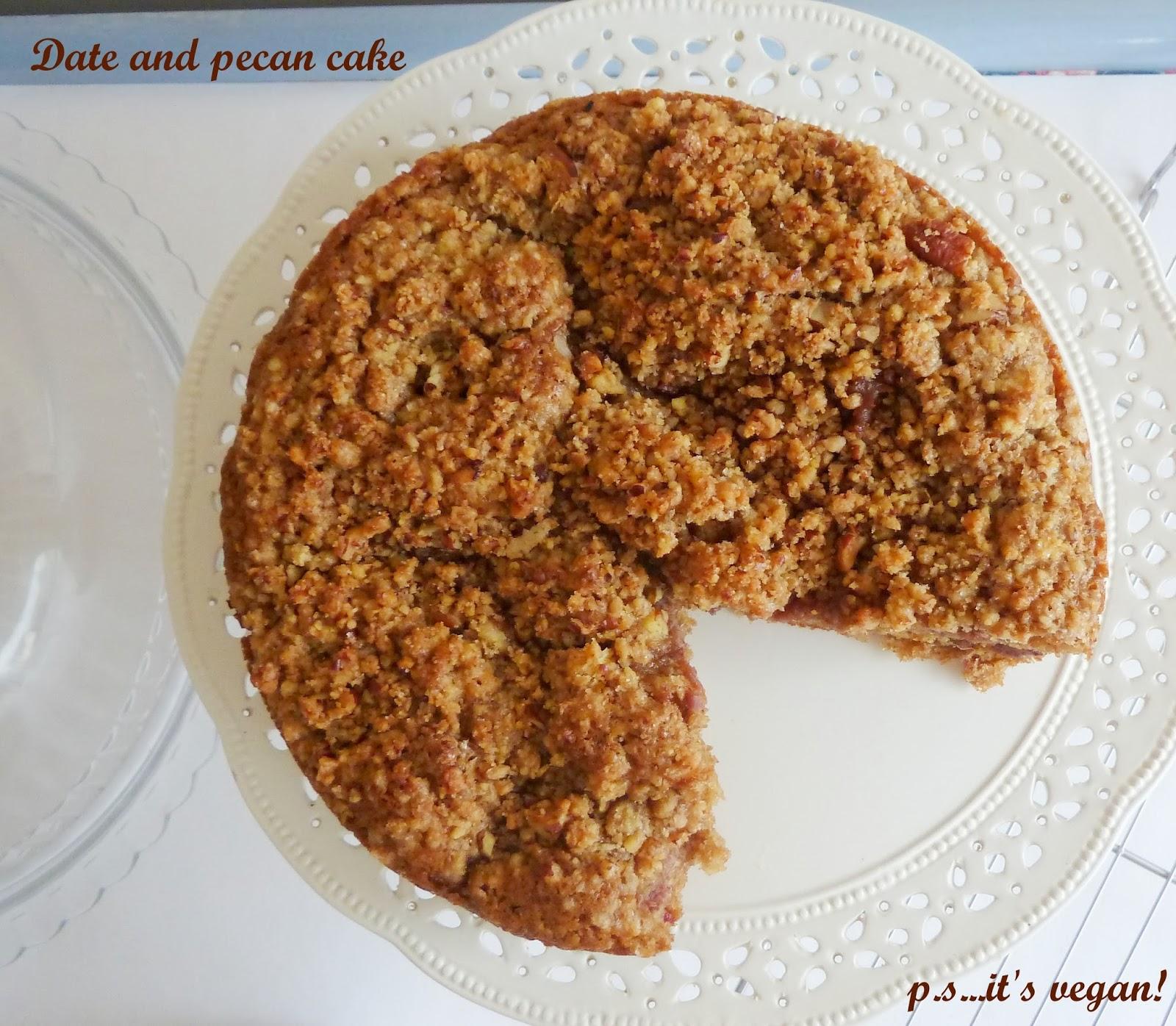 Date and Pecan Cake Vegan